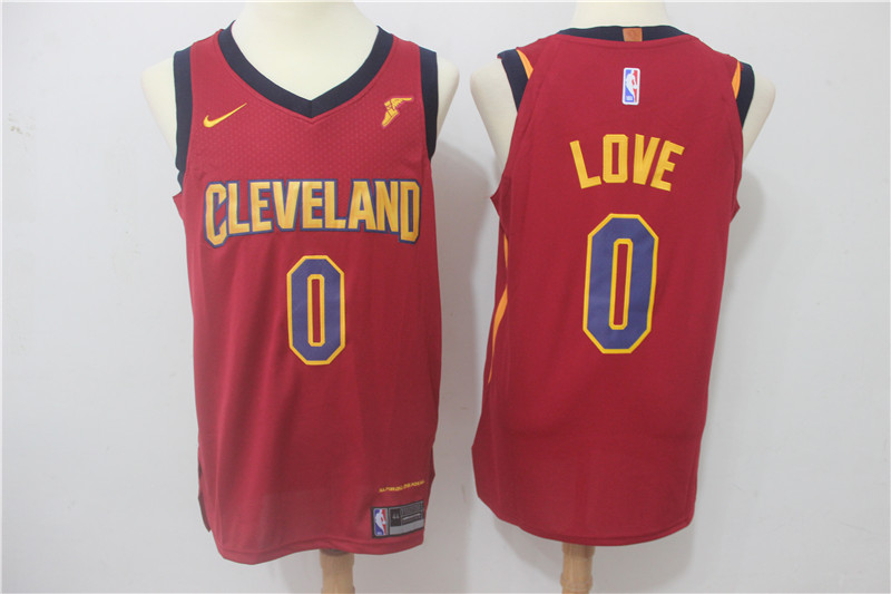 Cavaliers 0 Kevin Love Red Nike Authentic Jersey