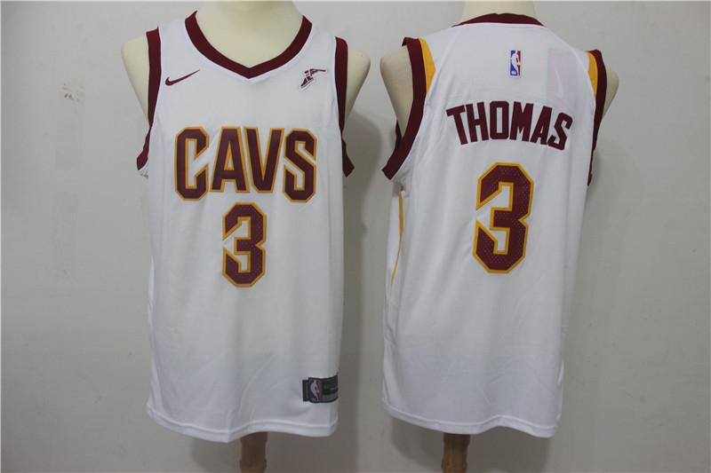 Cavaliers 3 Isaiah Thomas White Nike Swingman Jersey