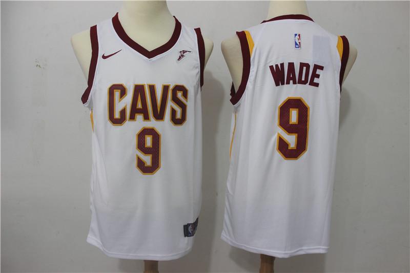 Cavaliers 9 Dwyane Wade White Nike Swingman Jersey