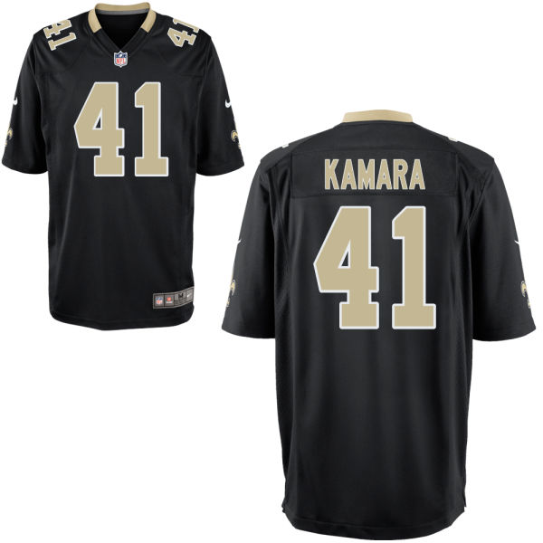 Nike Saints 41 Alvin Kamara Black Youth Game Jersey