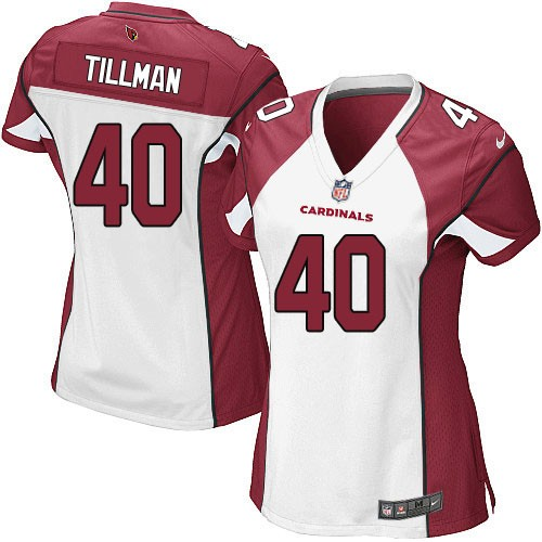 Nike Cardinals 40 Pat Tillman White Women Game Jersey