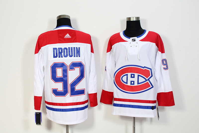 Canadiens 92 Jonathan Drouin White Adidas Jersey