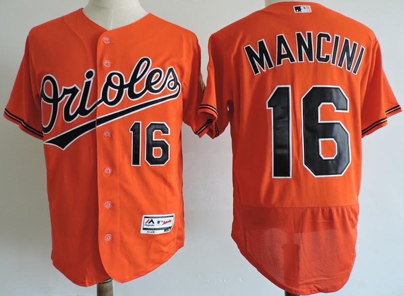 Orioles 16 Trey Mancini Orange Flexbase Jersey