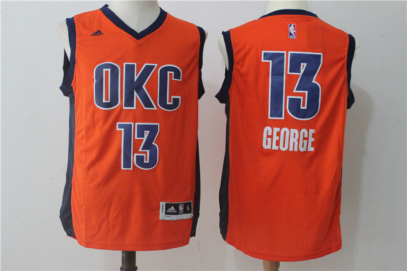 Thunder 13 Paul George Orange Swingman Jersey