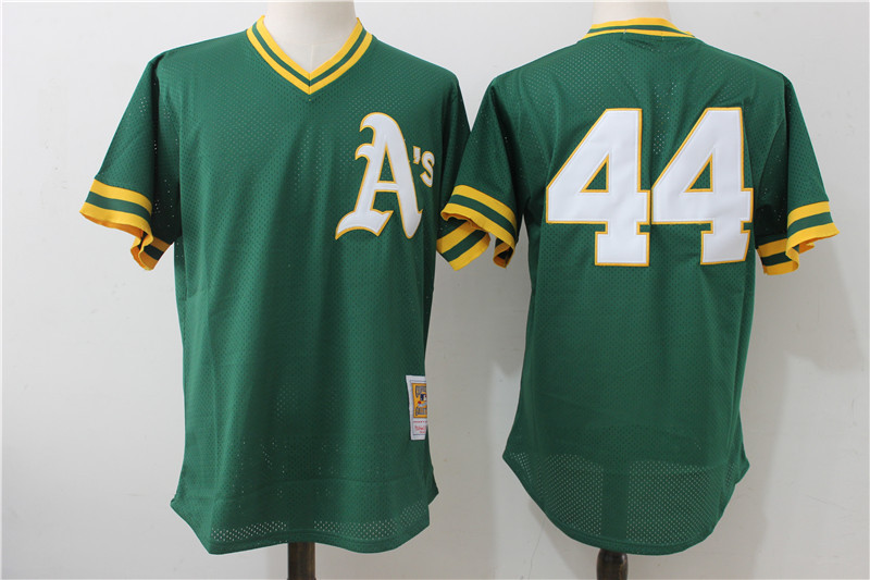 Athletics 44 Reggie Jackson Green Cooperstown Collection Batting Practice Jersey