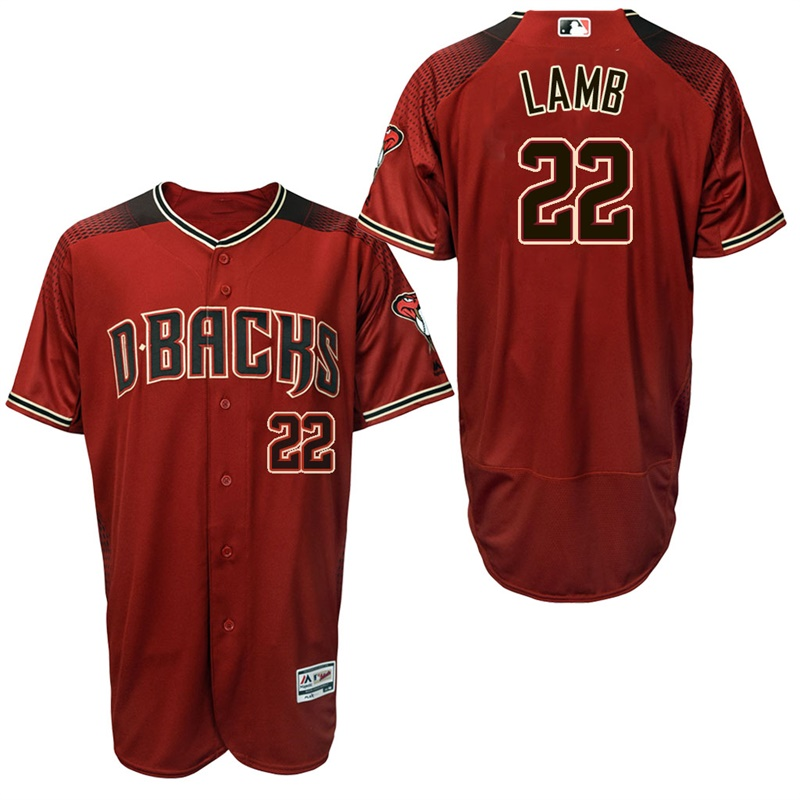 Diamondbacks 22 Jake Lamb Red Brick Flexbase Jersey