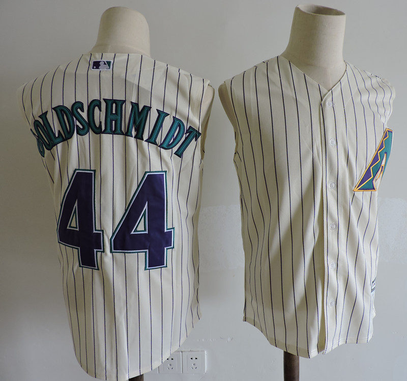 Diamondbacks 44 Paul Goldschmidt Cream Turn Back the Clock Sleeveless Jersey