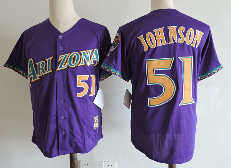 Diamondbacks 51 Randy Johnson Purple Cooperstown Collection Jersey