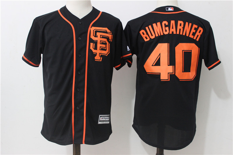 Giants 40 Madison Bumgarner Black Alternate Cool Base Jersey