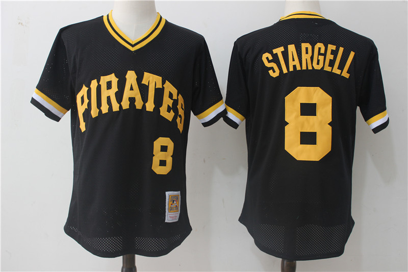 Pirates 8 Willie Stargell Black Cooperstown Collection Mesh Batting Practice Jersey