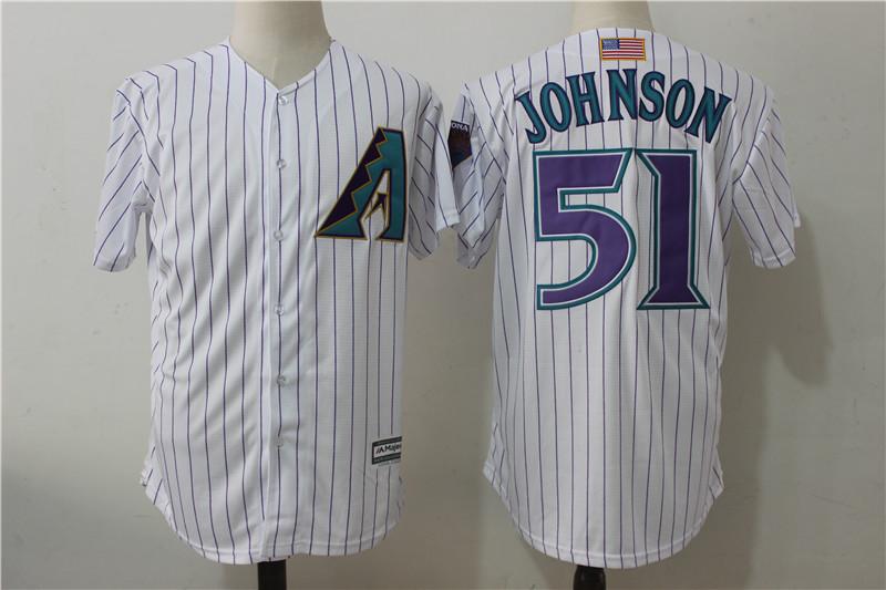 Diamondbacks 51 Randy Johnson White Mitchell & Ness Cool Base Jersey