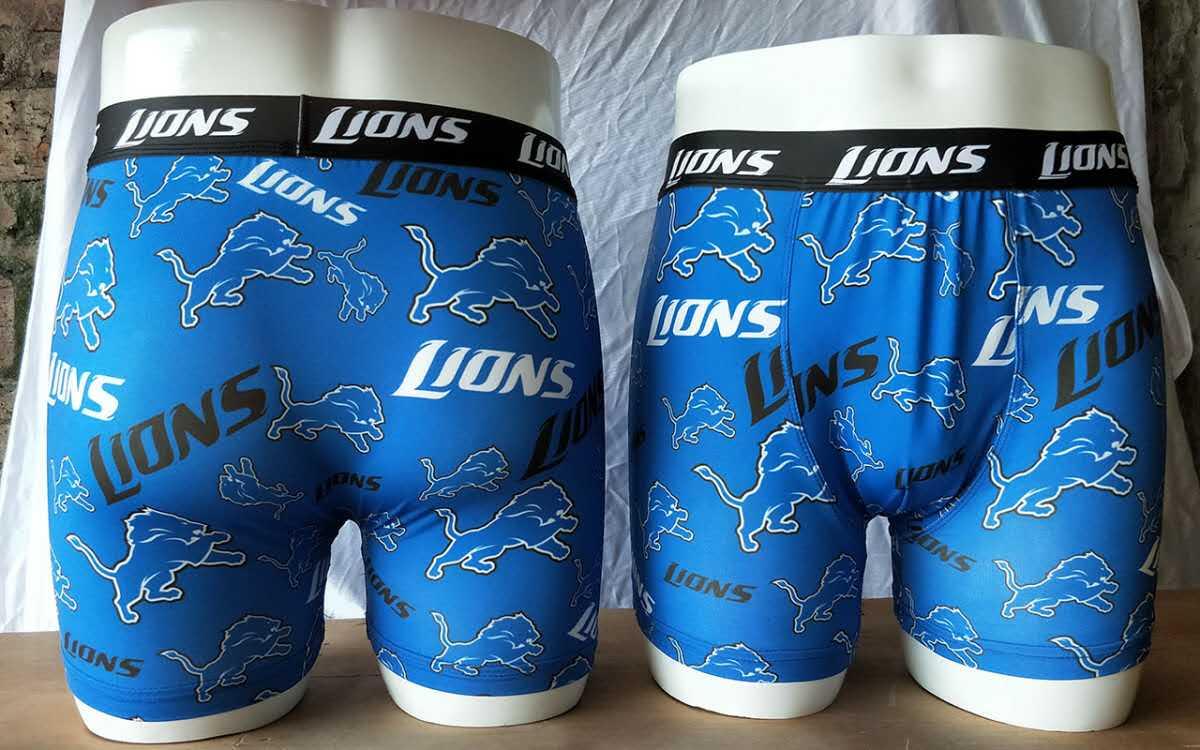 Detroit Lions Blue Block Swimming Trunks