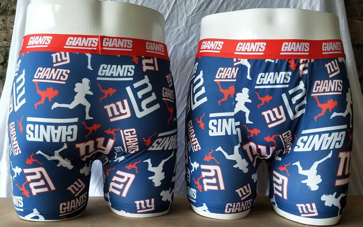 New York Giants Blue Block Swimming Trunks