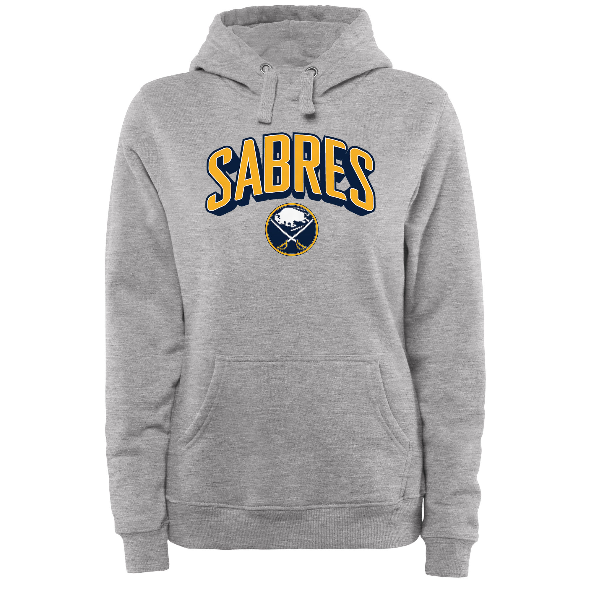 Sabres Gray Women's Customized All Stitched Hooded Sweatshirt