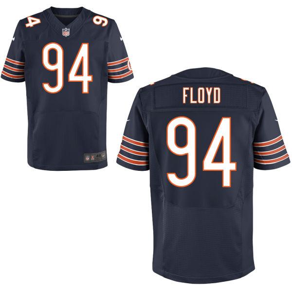 Nike Bears 94 Leonard Floyd Navy Elite Jersey