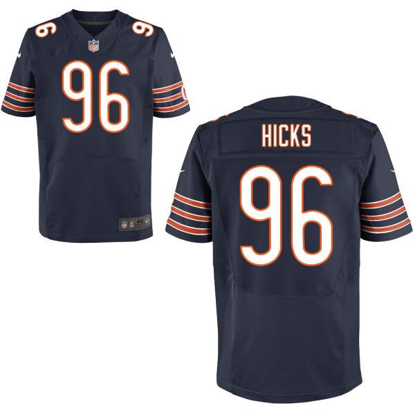 Nike Bears 96 Akiem Hicks Navy Elite Jersey