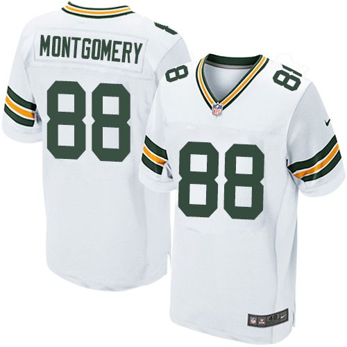 Nike Packers 88 Ty Montgomery White Elite Jersey