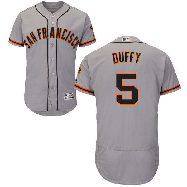 Giants 5 Matt Duffy Gray Flexbase Jersey