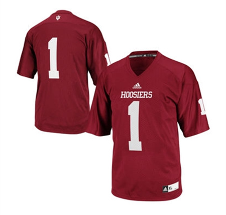 Indiana Hoosiers #1 Red College Football Jersey