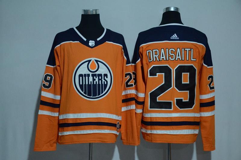 Oilers 29 Leon Draisaitl Orange Adidas Jersey