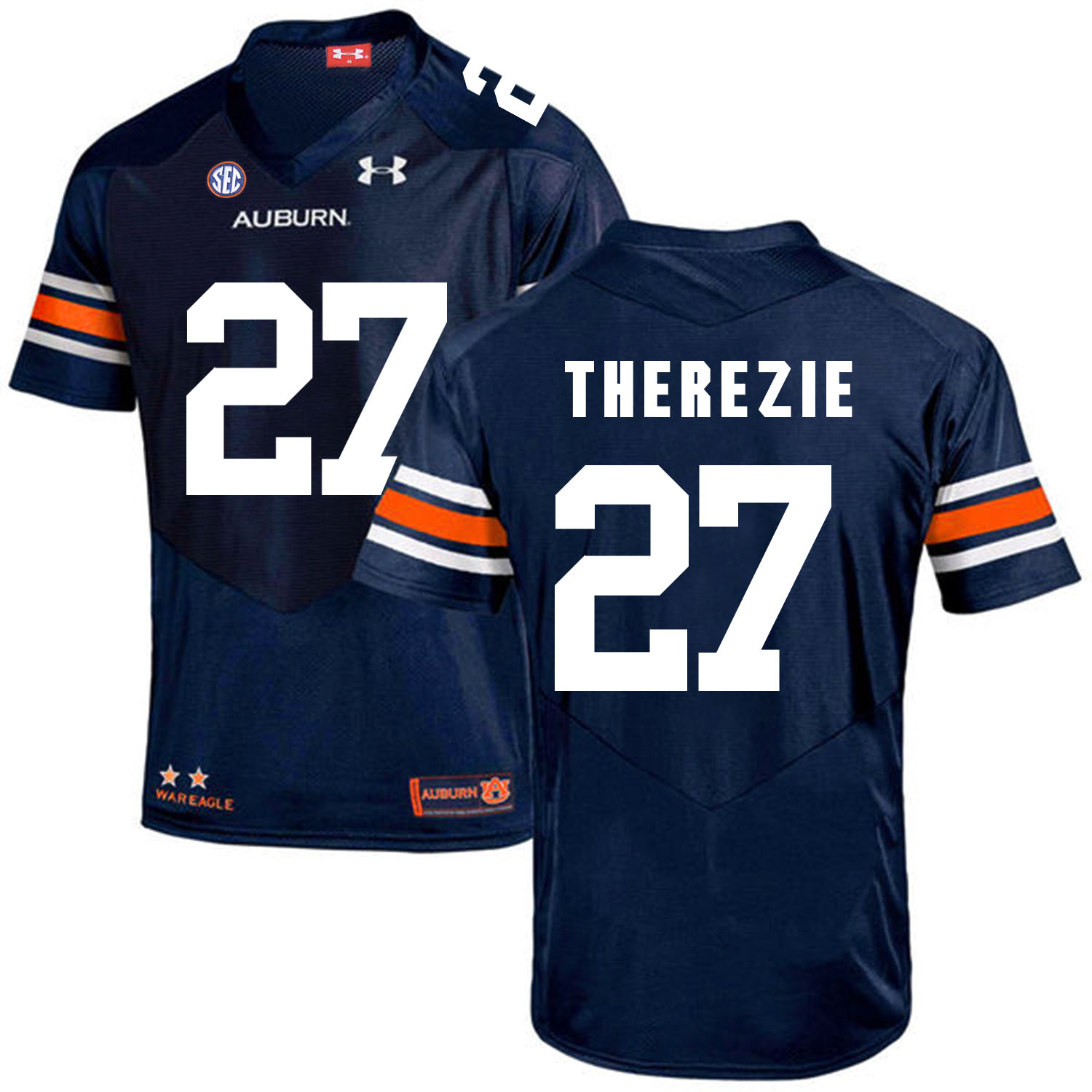 Auburn Tigers 27 Robenson Therezie Navy College Football Jersey