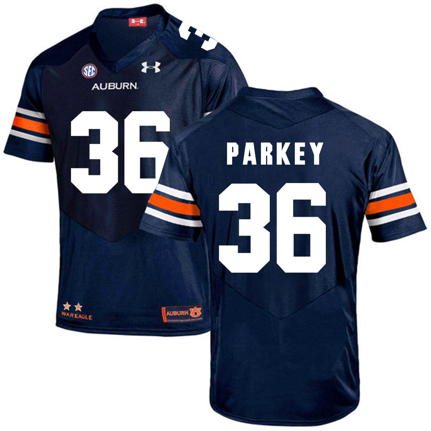 Auburn Tigers 36 Cody Parkey Navy College Football Jersey