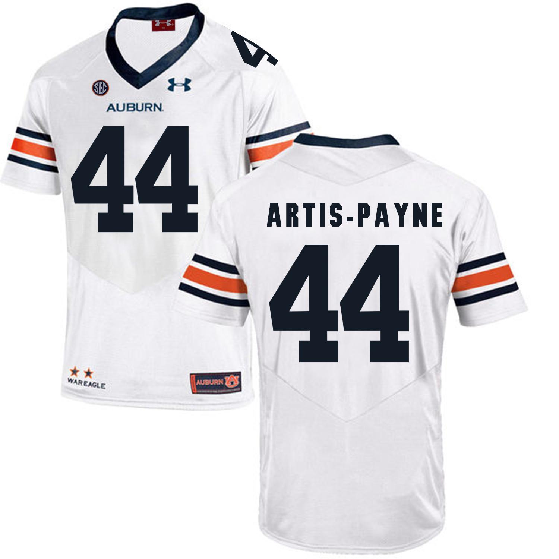 Auburn Tigers 44 Cameron Artis-Payne White College Football Jersey