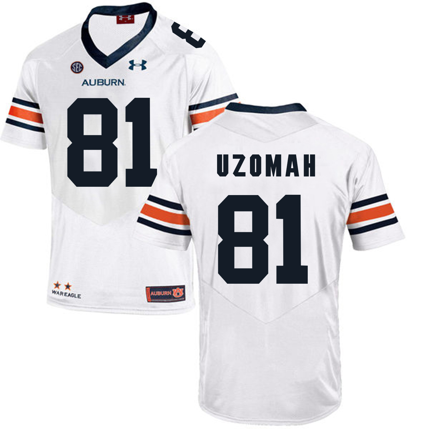 Auburn Tigers 81 C.J. Uzomah White College Football Jersey