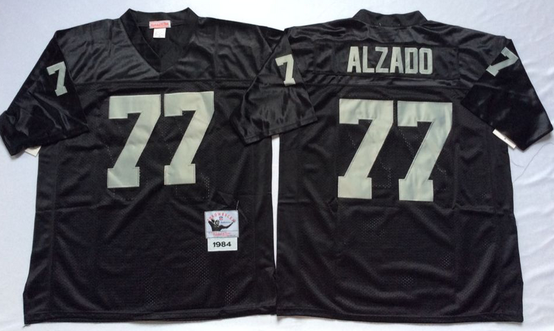Raiders 77 Lyle Alzado Black M&N Throwback Jersey