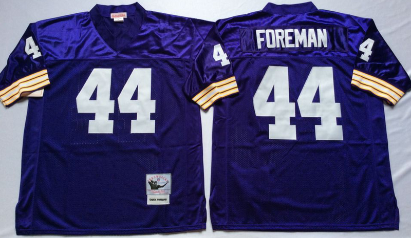 Vikings 44 Chuck Foreman Purple M&N Throwback Jersey