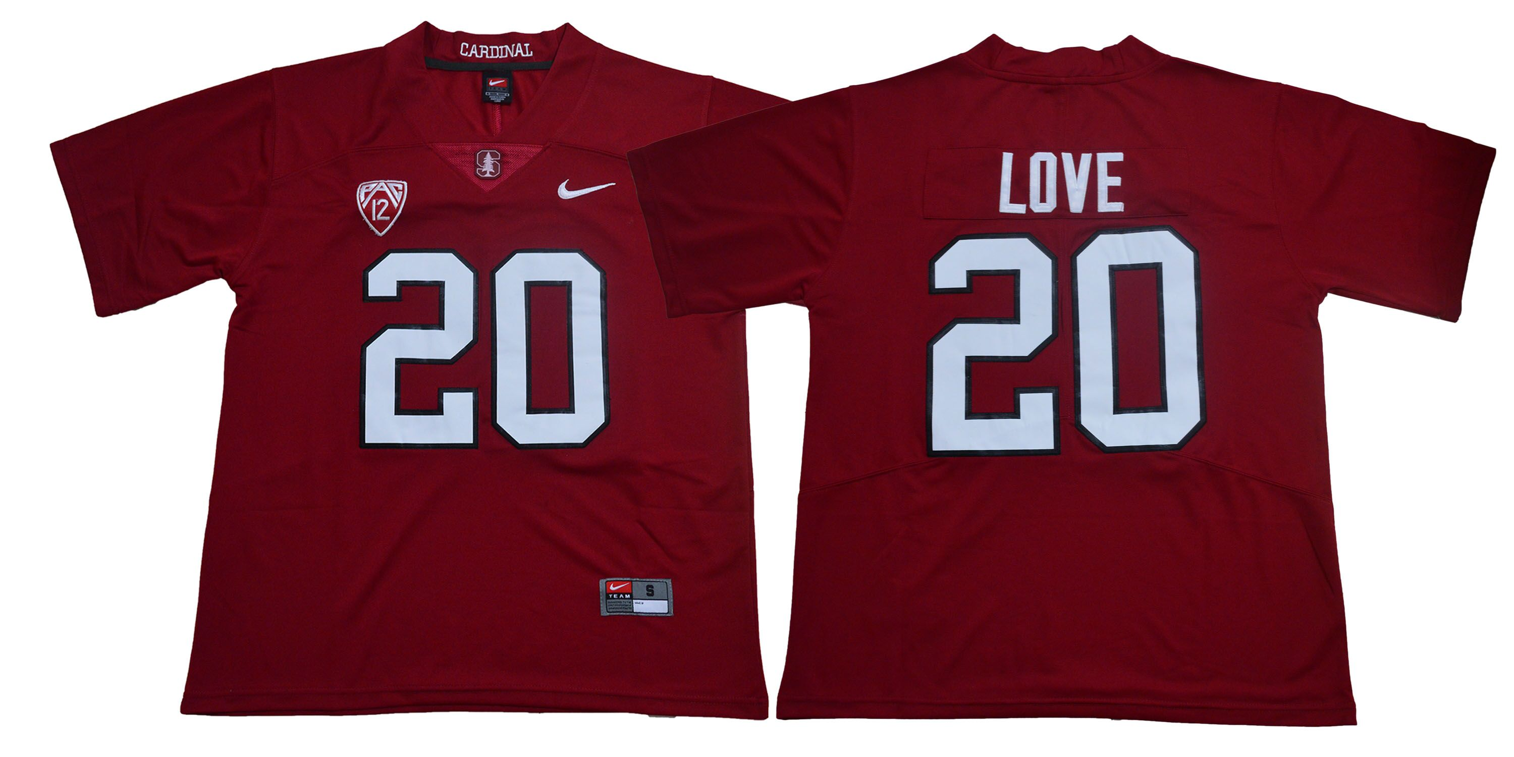 Stanford Cardinal 20 Bryce Love Burgundy Nike College Football Jersey