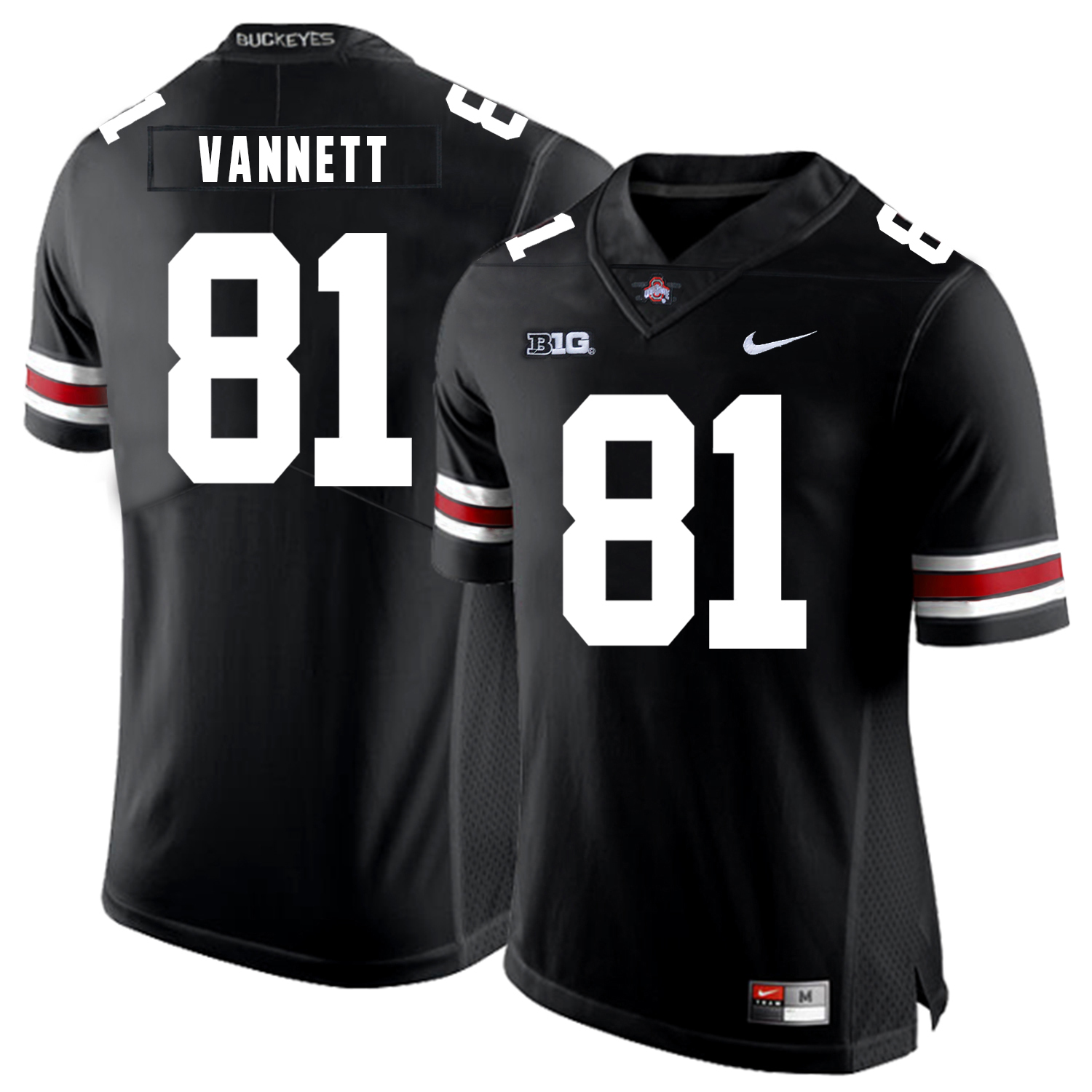 Ohio State Buckeyes 81 Nick Vannett Black Nike College Football Jersey