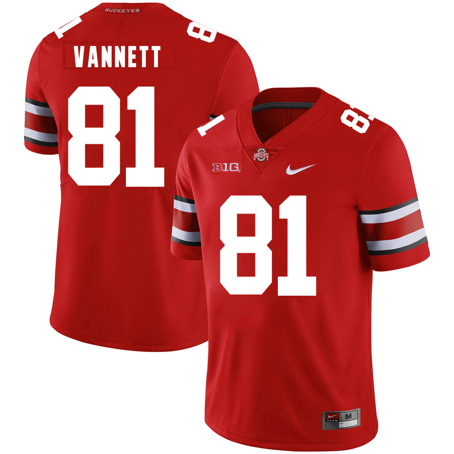 Ohio State Buckeyes 81 Nick Vannett Red Nike College Football Jersey