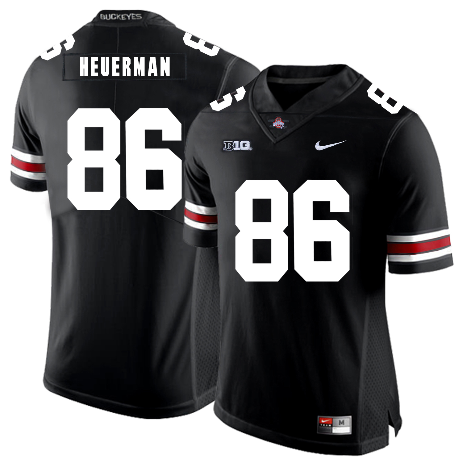 Ohio State Buckeyes 86 Jeff Heuerman Black Nike College Football Jersey