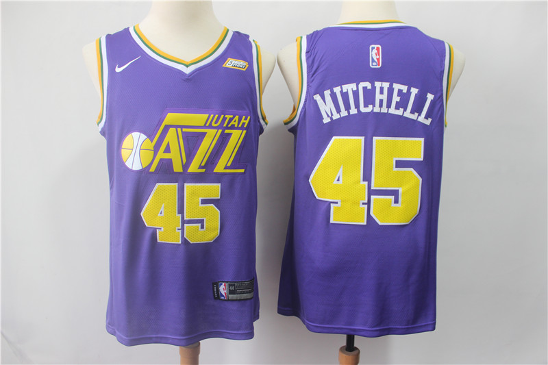 Jazz 45 Donovan Mitchell Purple Nike Swingman Jersey