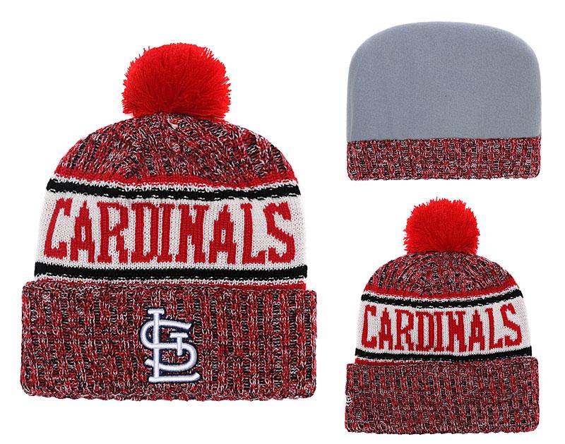 SL Cardinals Team Logo Cuffed Knit Hat With Pom YD
