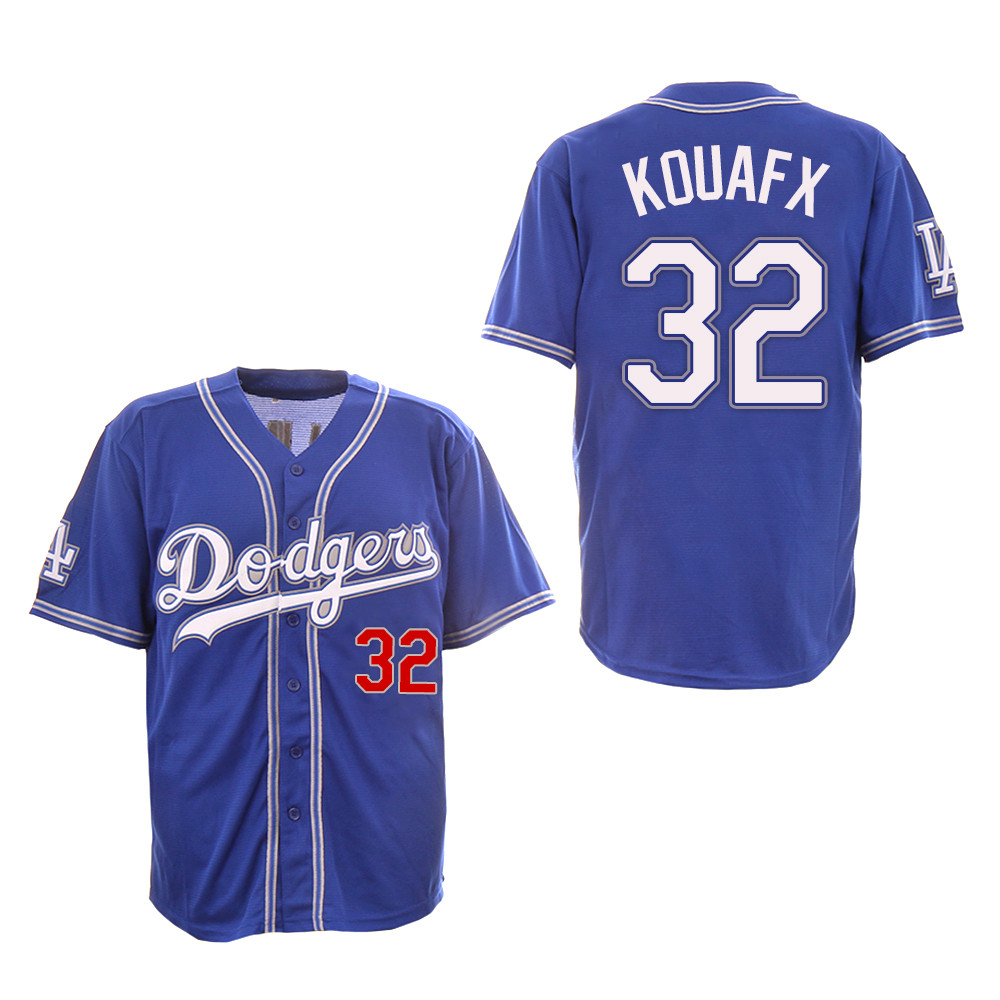 Dodgers 32 Sandy Koufax Royal New Design Jersey