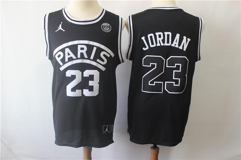 Paris Saint-Germain 23 Michael Jordan Black Fashion Jersey