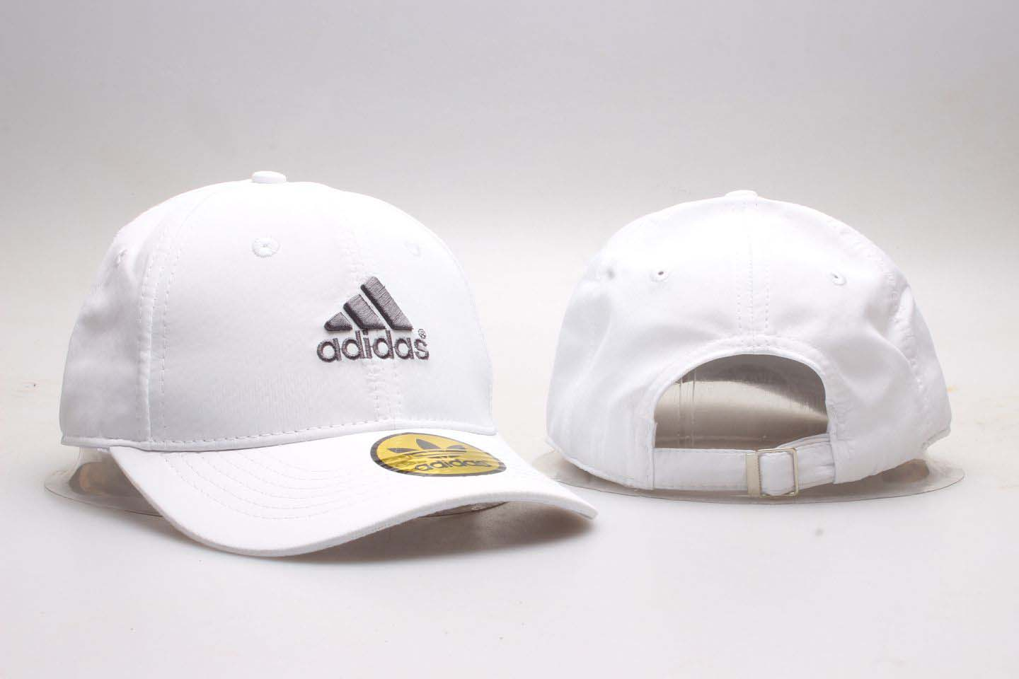 Adidas Fresh Logo White Sports Peaked Adjustable Hat YP