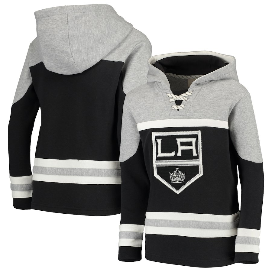 Los Angeles Kings Black Men's Customized All Stitched Hooded Sweatshirt