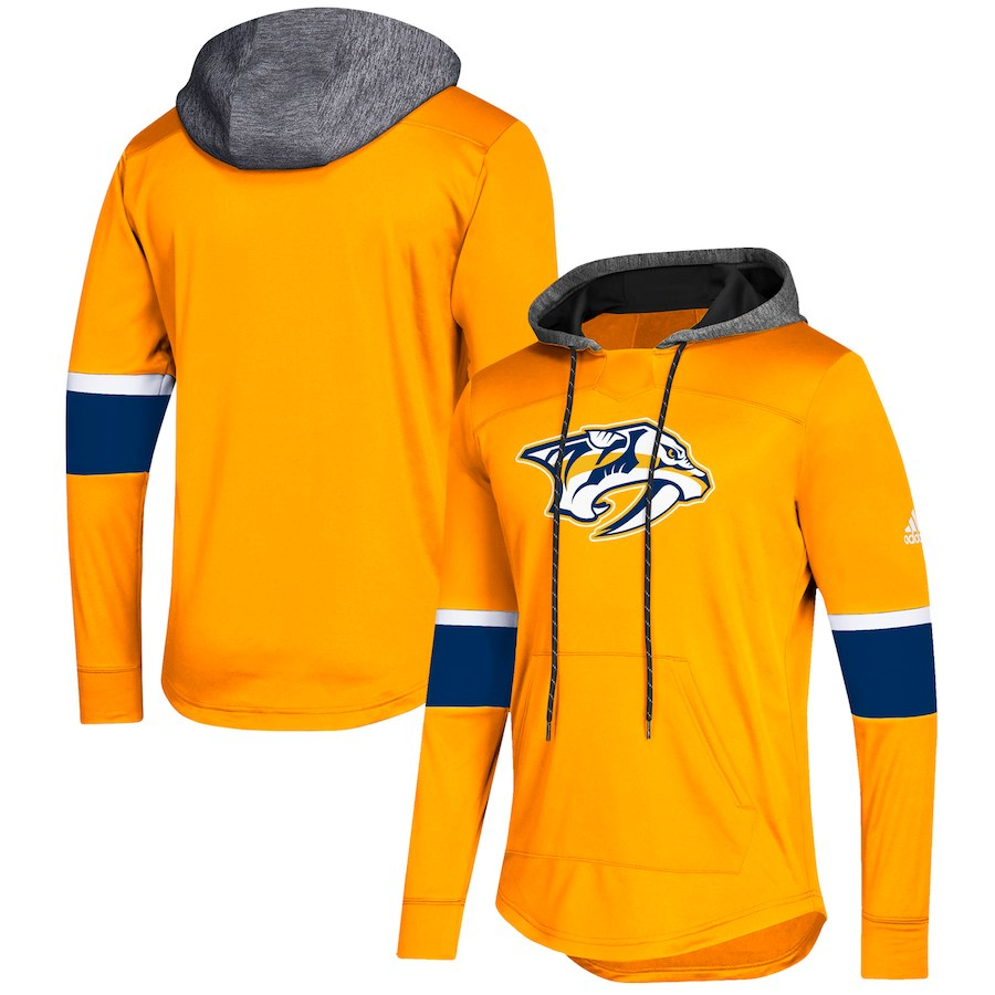 Nashville Predators Gold Women's Customized All Stitched Hooded Sweatshirt