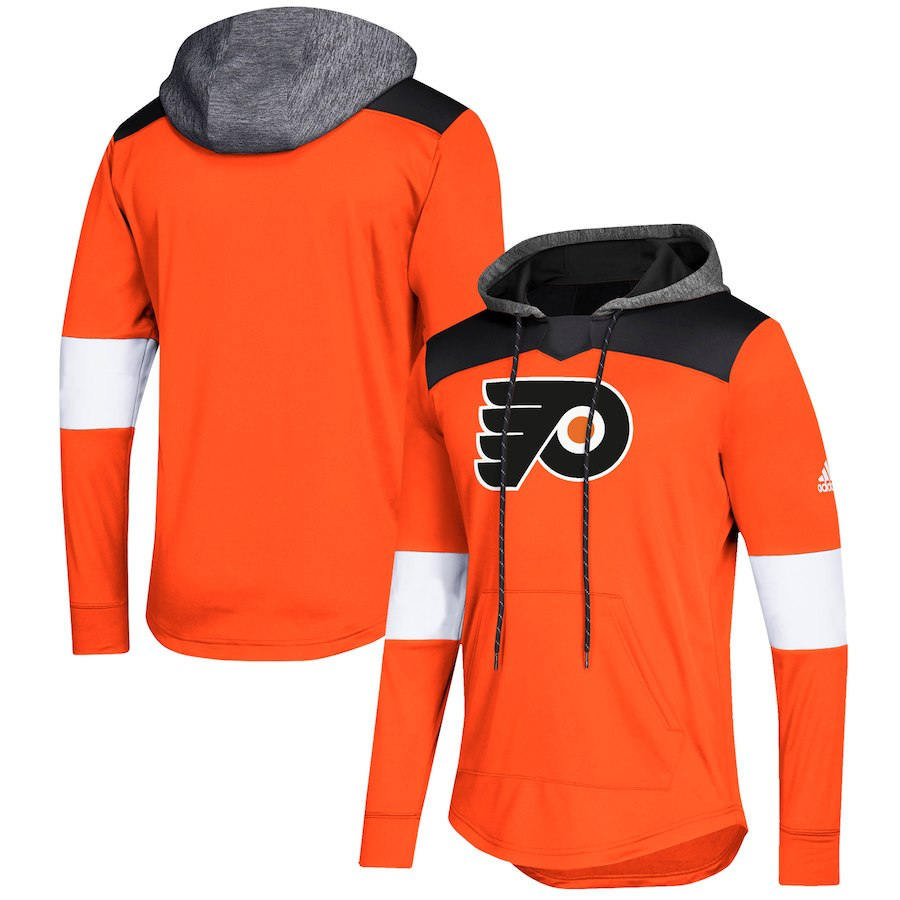 Philadelphia Flyers Orange Women's Customized All Stitched Hooded Sweatshirt