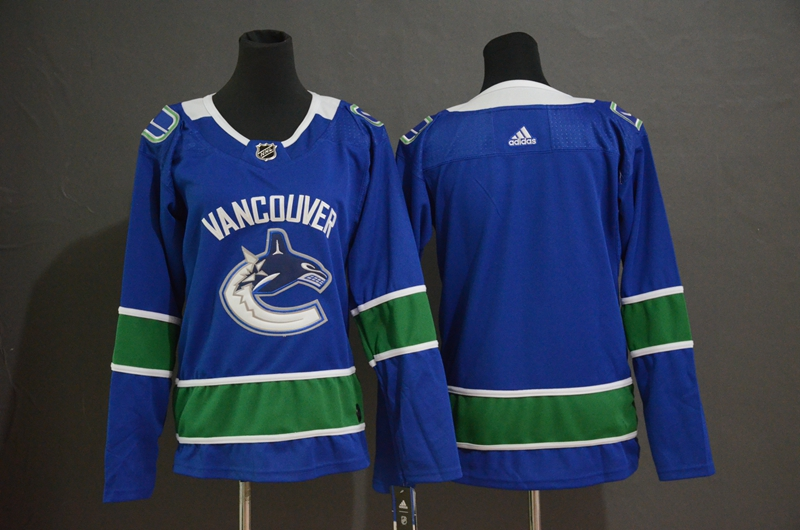Canucks Blank Blue Youth Adidas Jersey