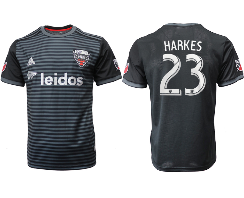 2018-19 D.C. United 23 HARKES Home Thailand Soccer Jersey