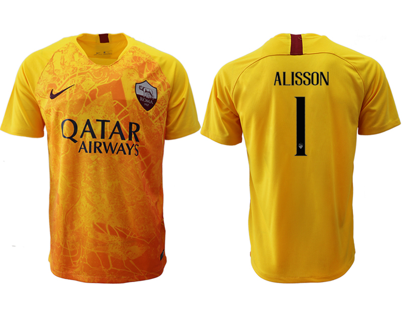2018-19 Roma 1 ALISSON Third Away Thailand Soccer Jersey