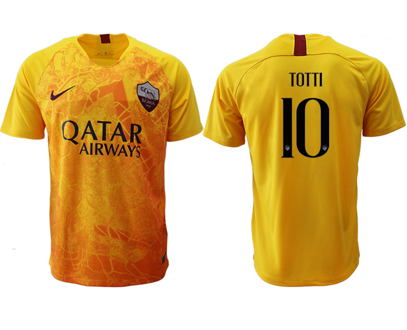 2018-19 Roma 10 TOTTI Third Away Thailand Soccer Jersey