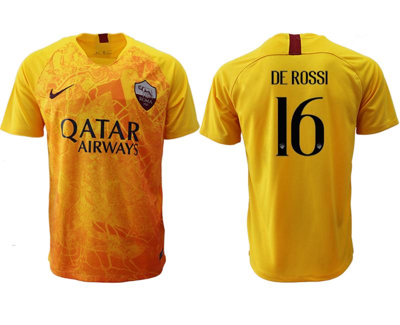 2018-19 Roma 16 DE ROSSI Third Away Thailand Soccer Jersey