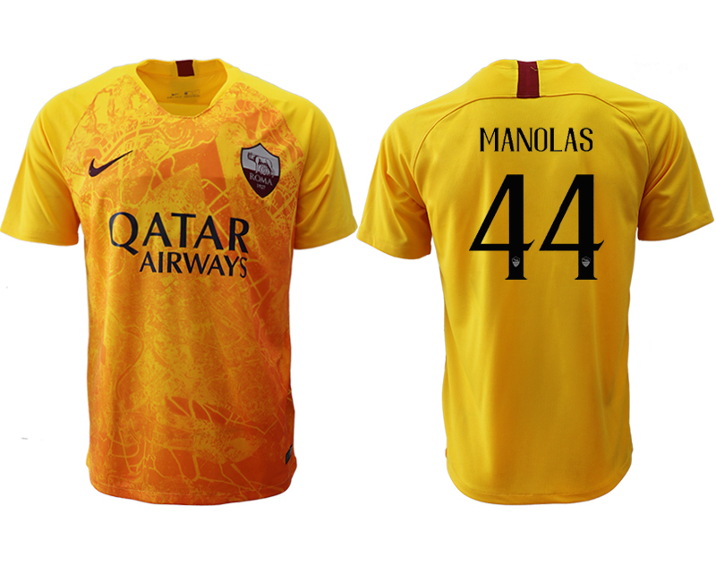 2018-19 Roma 44 MANOLAS Third Away Thailand Soccer Jersey