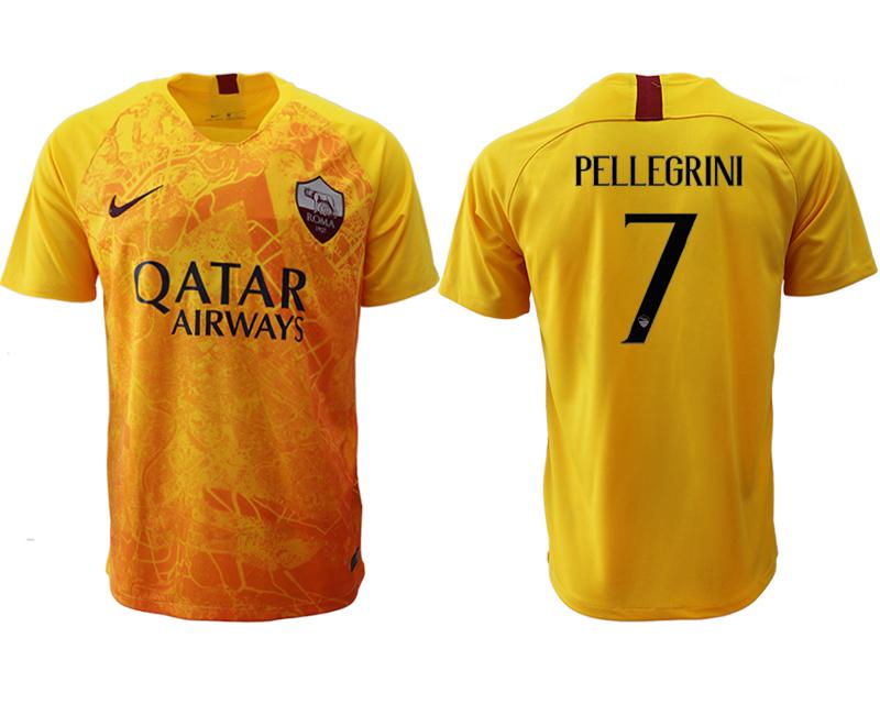 2018-19 Roma 7 PELLEGRINI Third Away Thailand Soccer Jersey