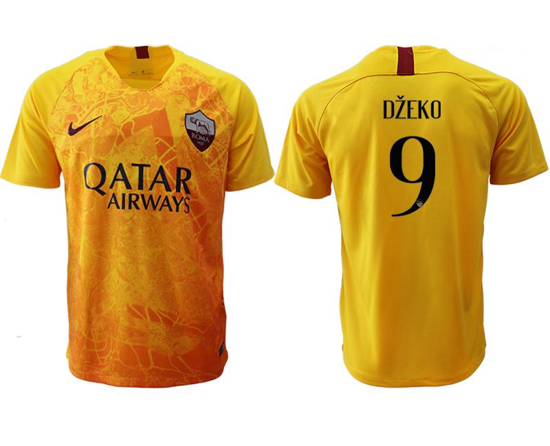 2018-19 Roma 9 DZEKO Third Away Thailand Soccer Jersey
